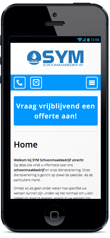 SYM Schoonmaakbedrijf App